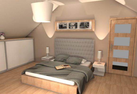 Sypialnia na poddaszu – wersja druga
