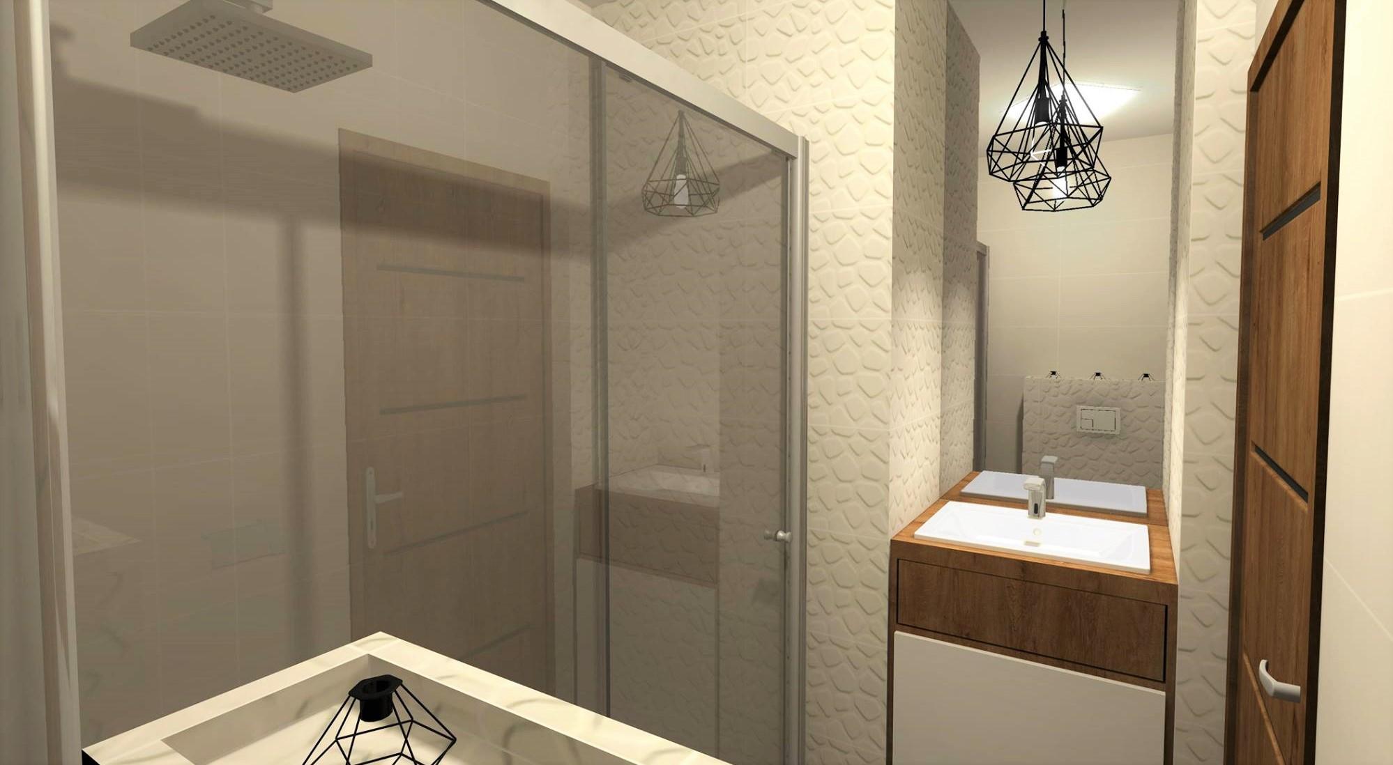 Skandynawska łazienka z akcentem industrialnym
