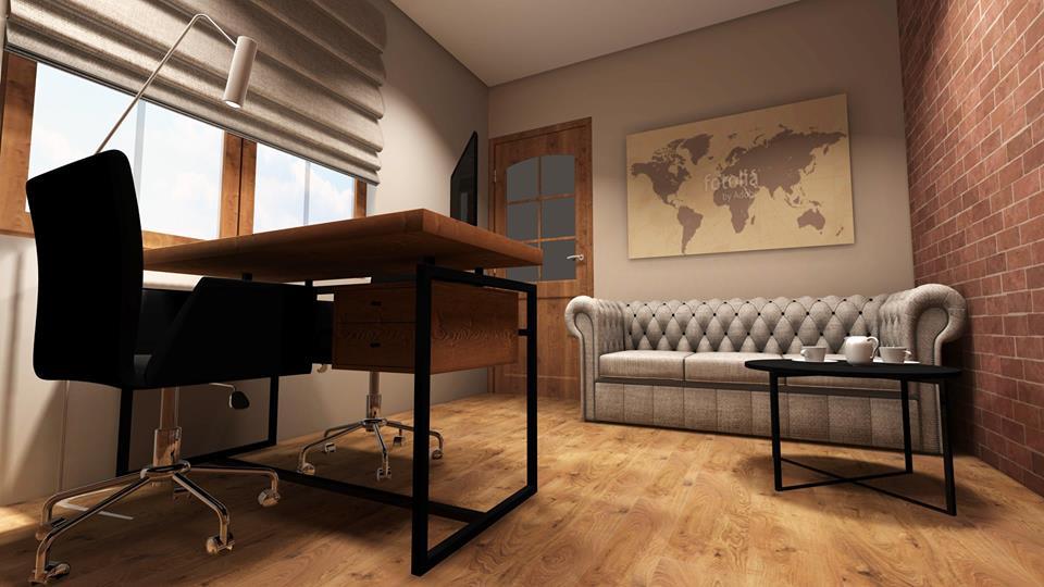 Gabinet w domu jednorodzinnym