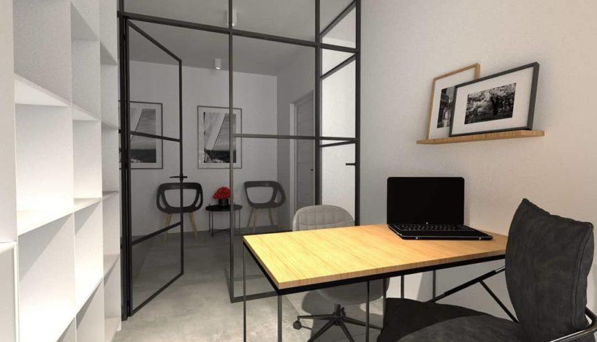 Projekt wnętrza biura w Wejherowie