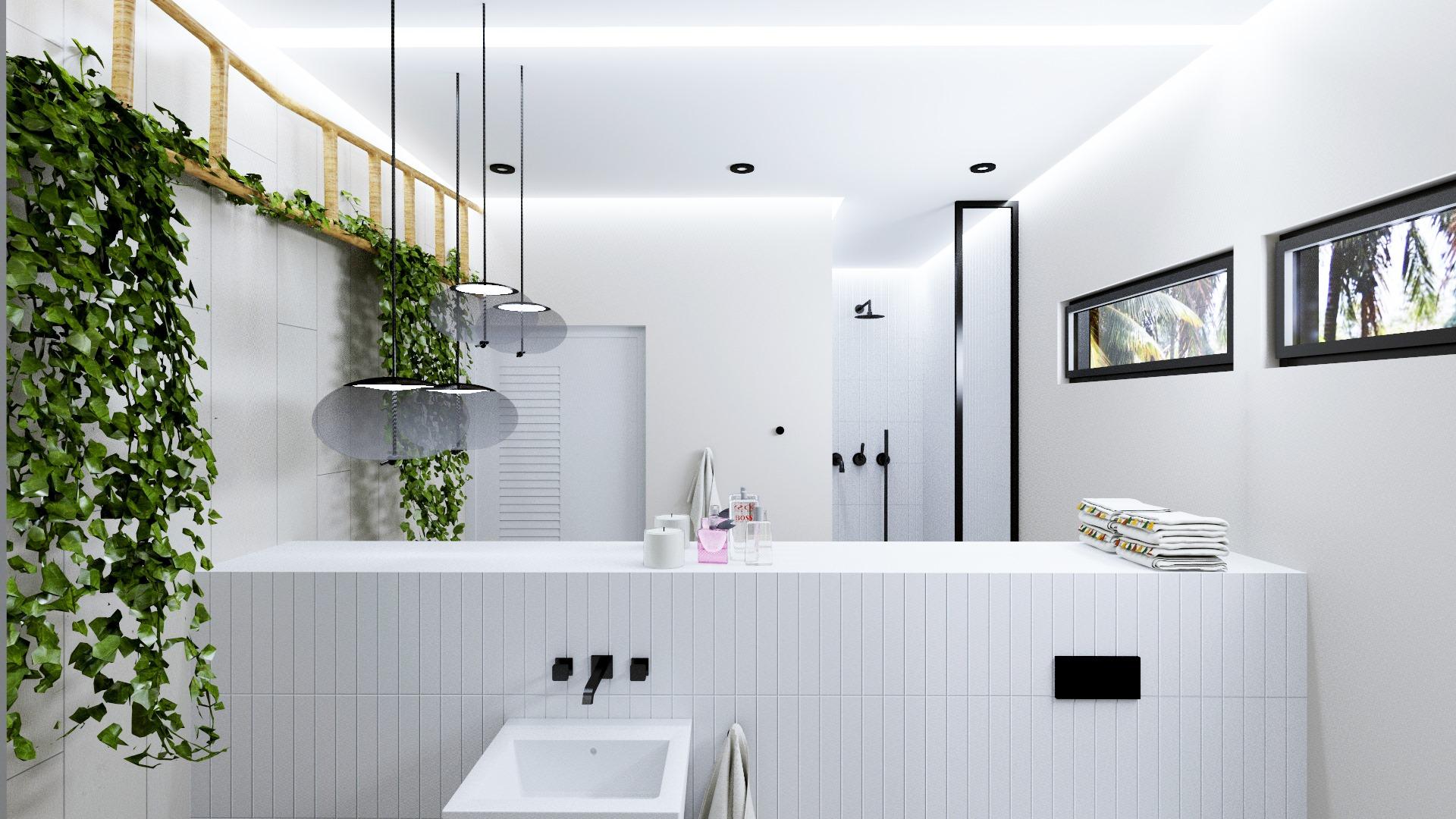 Łazienka w apartamencie w Tajlandii